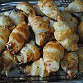 Mini croissants jambon