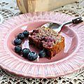 Gâteau aux fruits rouges <b>IG</b> <b>bas</b> et vegan {recette}