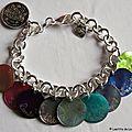 1. Support : chaîne plaqué argent ronde - 36 € le bracelet seul