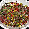 Salade de lentilles aux poivrons