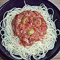 Capellini au thon et à la tomate