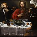 Hendrick <b>Ter</b> Brugghen (1588-1629), attribué à., « Les disciples d'Emmaüs ».