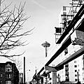 Alweig Monorail construction - Seattle