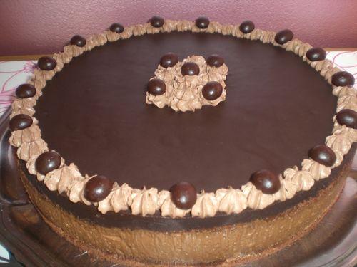 Entremet chocolat/noisette