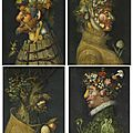 Workshop of Giuseppe <b>Arcimboldo</b> (Milan 1527-1593), The Four Seasons: Anthropomorphic Allegories Composed of Fruits and Plants