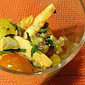 Verrines de crevettes, sauce vierge au basilic