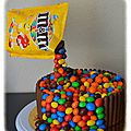 Gravity cake ou gâteau suspendu tout chocolat