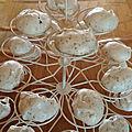 Fondants au chocolat saveur de Noël (avec 3 blancs d'oeuf)