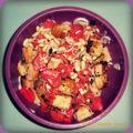 Salade réconfortante : tomates-haricots blancs