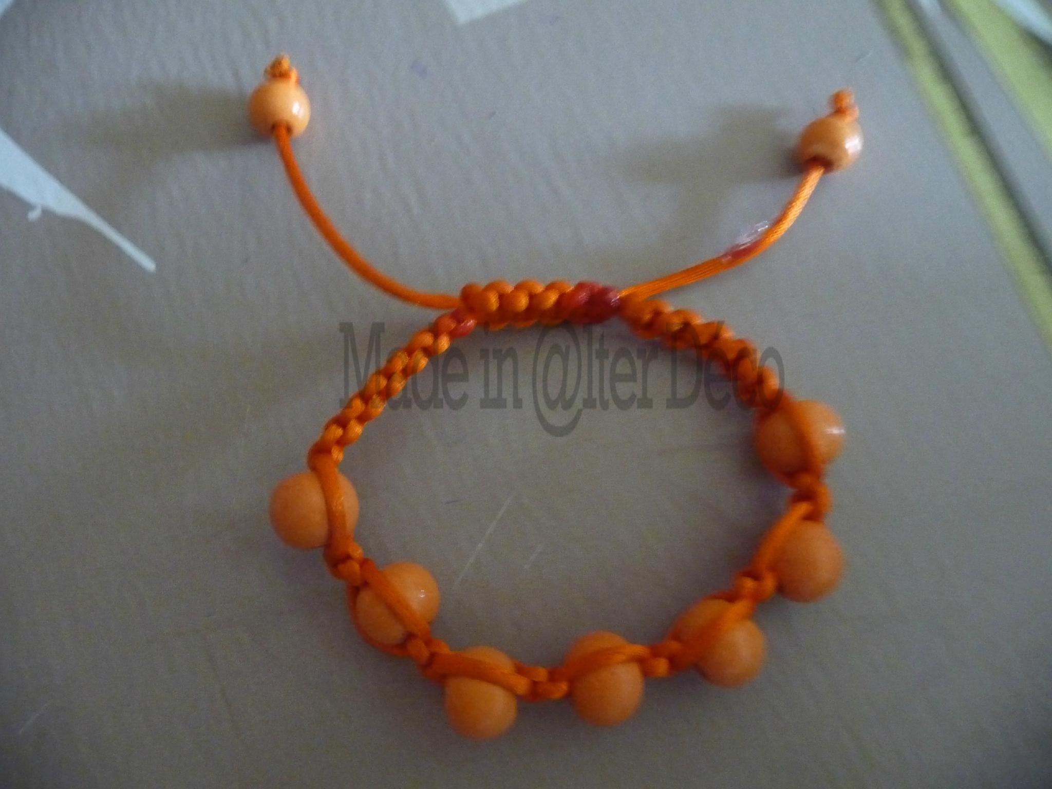 bracelet shamballa orange