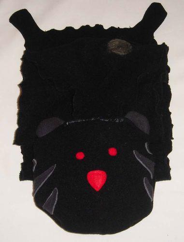echarpe chat noir