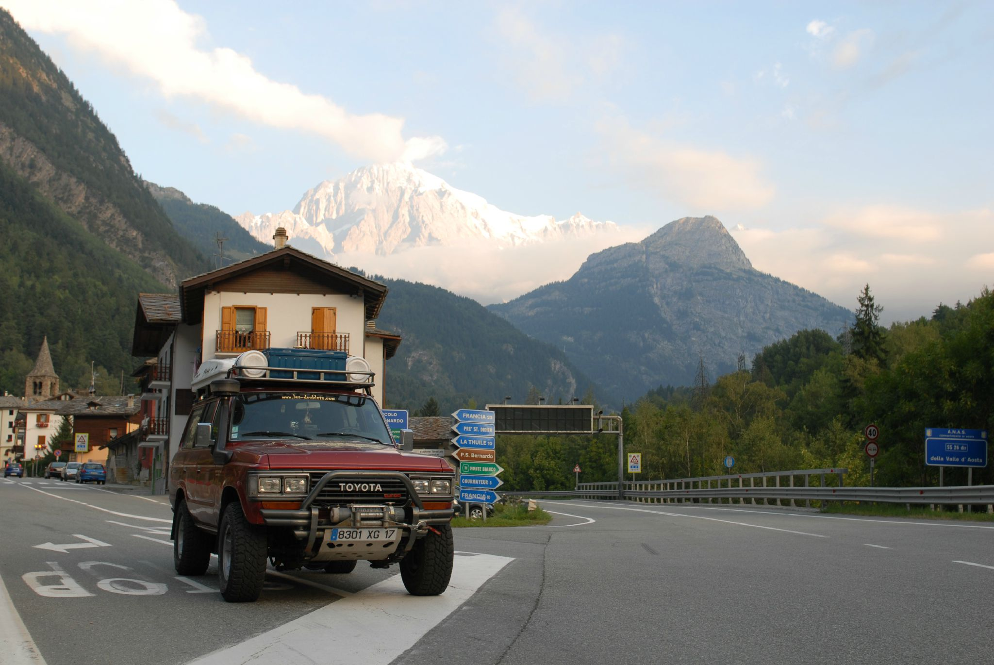 Arrivée en Italie par le col du petit St Bernard