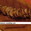 Filet mignon de porc et petits légumes