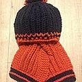 Tuto écharpe et bonnet pour bébé taille 12-18 mois en côtes anglaises