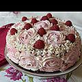 Cake design framboise