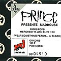 Prince - mercredi 17 juin 1987 - pop bercy (paris)