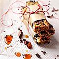 Crousti-barres ultragourmandes de la rentrée : sésame, airelles et chocolat noir