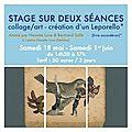 Stage collage/art avec <b>Bertrand</b> <b>Sallé</b>