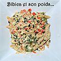 One-pan pasta à l'œuf, ricotta, poivron et mange tout {aux pâtes complètes}