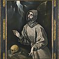 Doménikos Theotokopoulos, called El Greco and workshop (Candía, Crete 1541 – 1614 Toledo), <b>Saint</b> <b>Francis</b> of Assisi in ecstasy