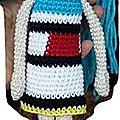 Petite robe esprit mondrian pour poupette (small dress