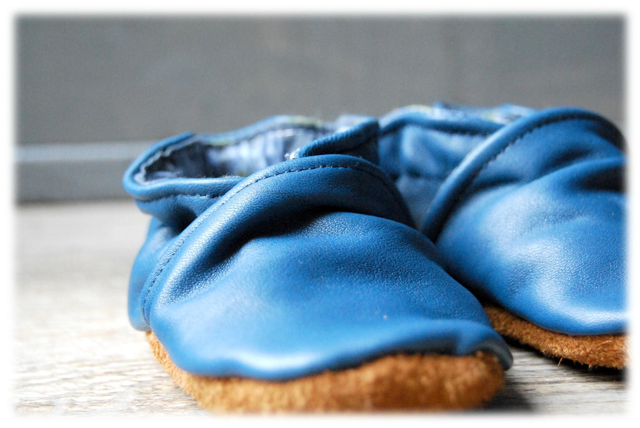chaussons cuir bleu01