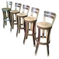 Mobilier de bar ,chaise haute ,pesonnalisable en teinte et hauteur d'assise