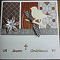 Cartes de condoléances carrées