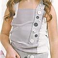Vêtements et accessoires enfant #1 : maillot avec boutons