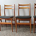 Chaises style scandinave 70's