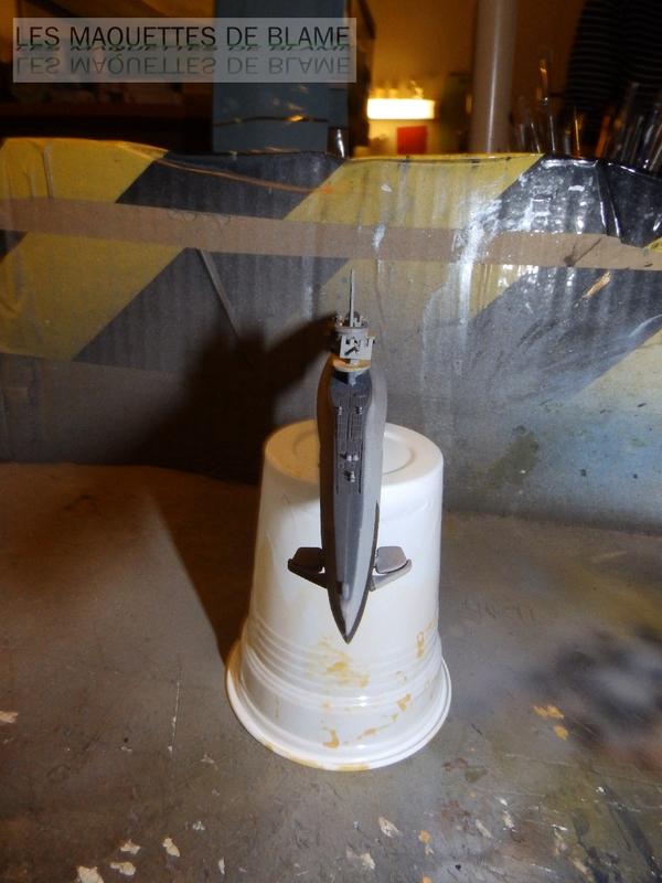 UNTERSEEBOOT TYPE VIIC TURM II U-673 [MIRAGE HOBBY 1/400] (En plongée) 120136786
