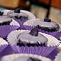 Cupcake violet