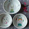 Mugs, coupelles, brocs, mes petits travaux de vacances en peinture sur porcelaine