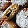Beignets aux nutella et beignets à la gelée de cassis