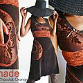 Robe D'automne par excellence pour les gourmandes Elegantes version <b>Chocolat</b> Orange et velours !