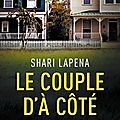 Shari lapena : le couple d'à côté