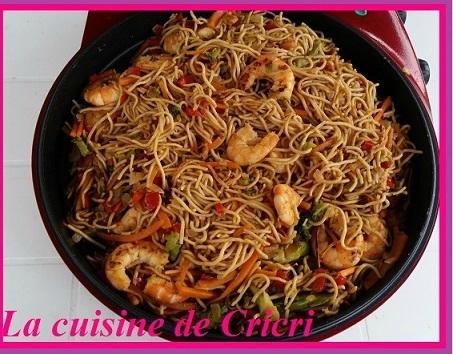 Nouilles chinoise aux crevettes