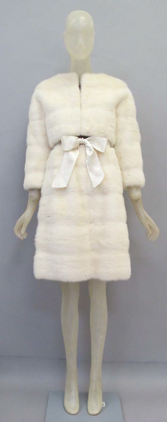 Cristobal Balenciaga (Spanish, 1895–1972). Mink suit, 1967