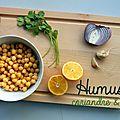 Humus coriandre-citron