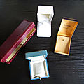 ANCIENNES <b>BOITES</b> <b>A</b> <b>BIJOUX</b>, coffrets pour colliers, bagues, bracelets