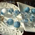 Sautoir Bleu Blanc Neige