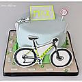 Gâteau vtt - gâteau en pâte à sucre-