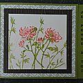 Carte avec des fleurs aquarellées