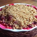 Crumble spéculoos&fruits rouges