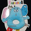 Doudou <b>Barbapapa</b> bleu hochet jemini