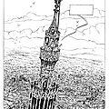 Artiste Francis Keller Notre Dame de Strasbourg la flêche 2