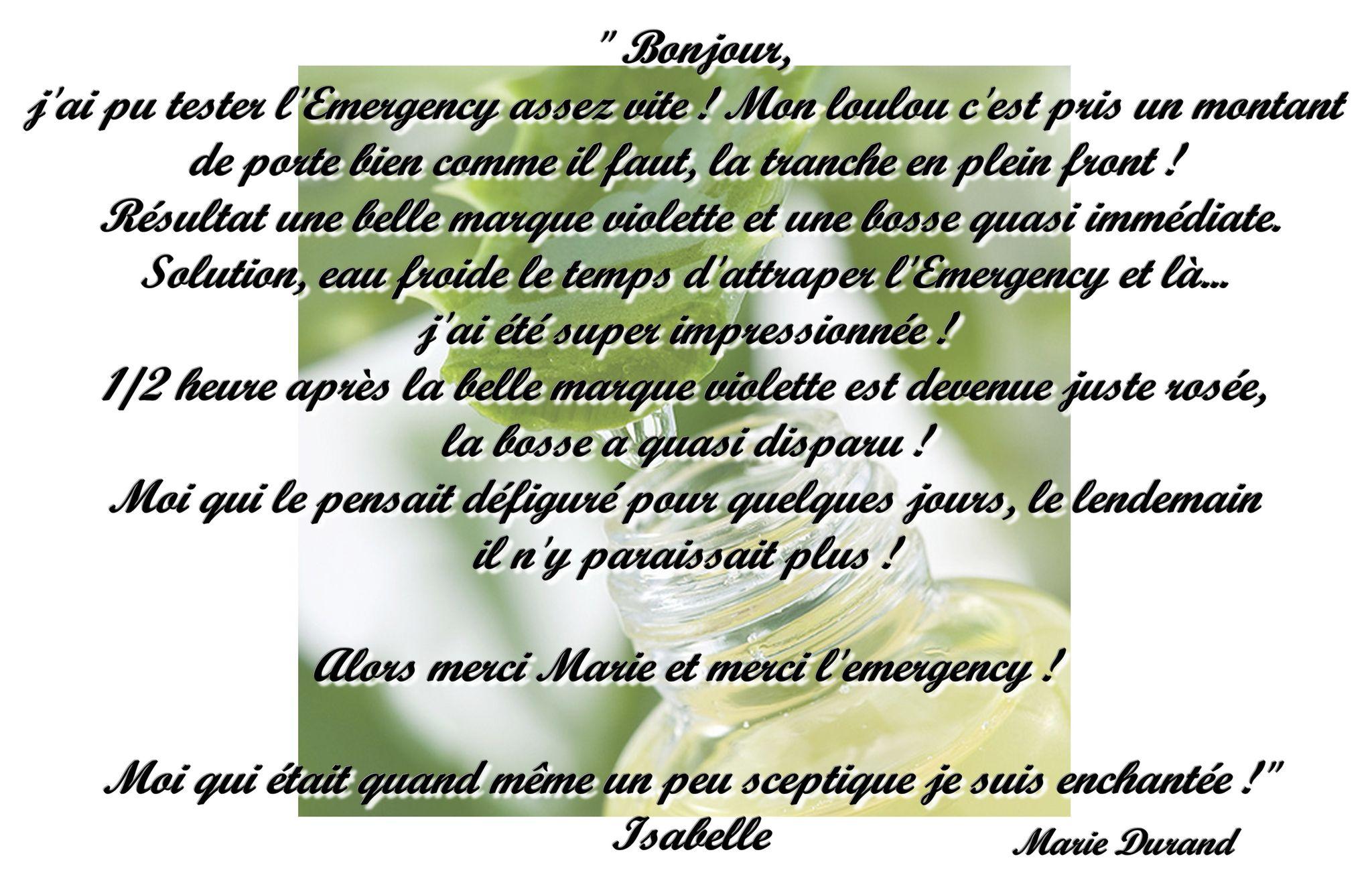 Emergency et Isabelle Lagache