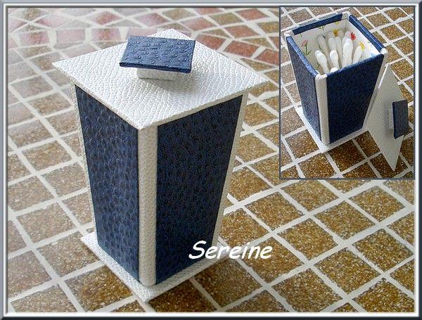 Boîte à cotons-tiges (carton de récup)