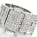 A Retro Diamond and Platinum 'Belt' Bracelet, <b>circa</b> <b>1947</b>, of apprx 55-58 carats, by Van Cleef & Arpels