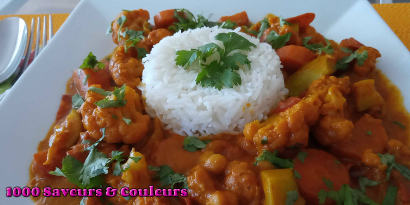 Curry de légumes tikka massala